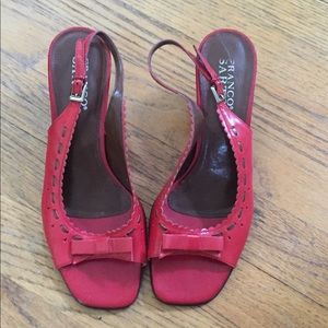 Franco Sarto adorable Red heels